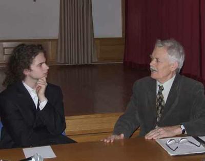 Andrásfalvy Bertalan az Asztali beszélgetések rendezvényen