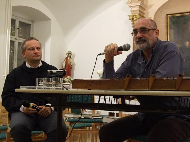 Borián Elréd osb és Gryllus Dániel Mosonmagyaróvári rendezvényünkön - big