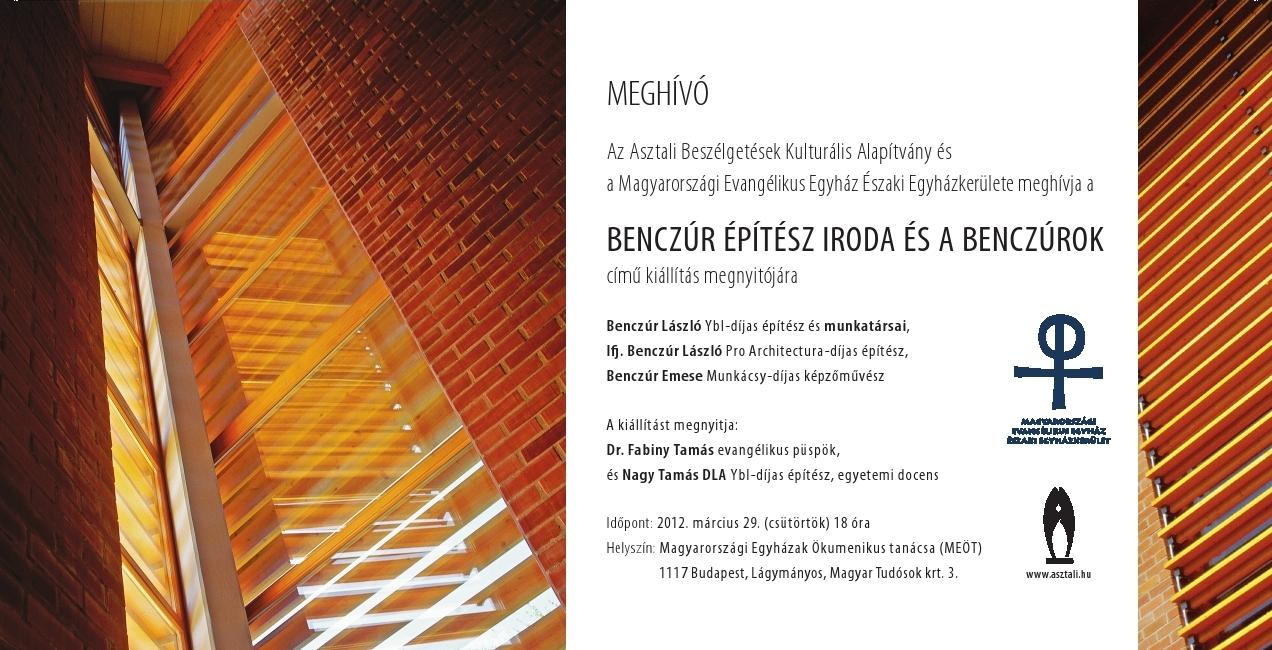 A Benczúr Építész Iroda és a Benczúrok – Megnyílt a kiállítás a Lágymányosi Ökumenikus Központban