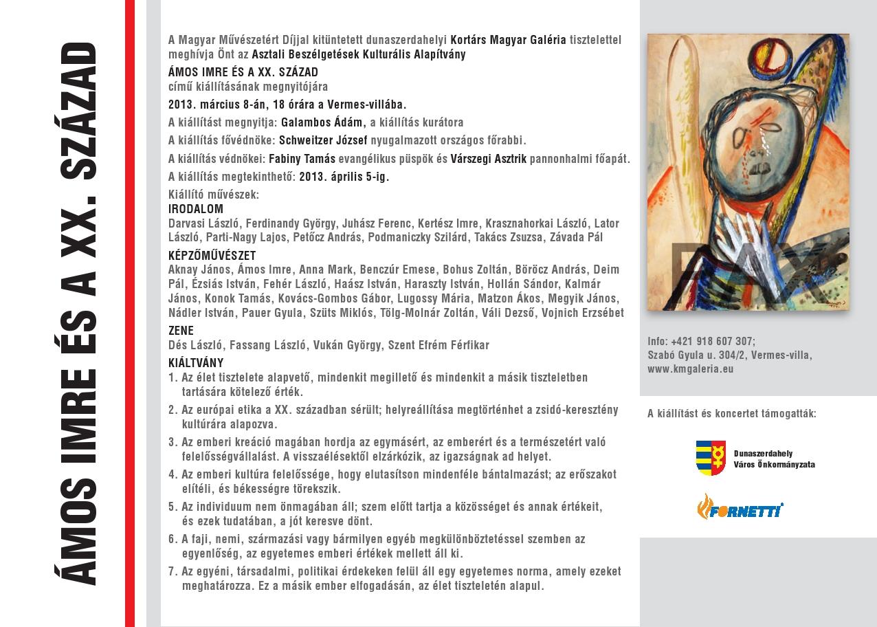 Péntektől Szlovákiában látható az Ámos Imre és a XX. század – kortárs összművészeti kiállítás