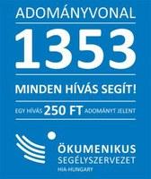 1353 adományvonal - segítség a rászorulóknak