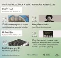 Ingyenes programok a Zsidó Kulturális Fesztiválon