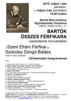 Bartók összes férfikara – CD-bemutató koncert