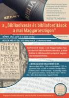 Bibliaolvasás és bibliafordítások a mai Magyarországon - konferencia