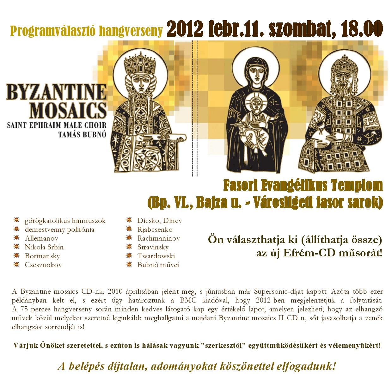 Szent Efrém Férfikar: Bizánci mozaikok