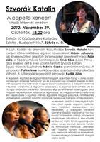 Szvorák Katalin: A capella koncert